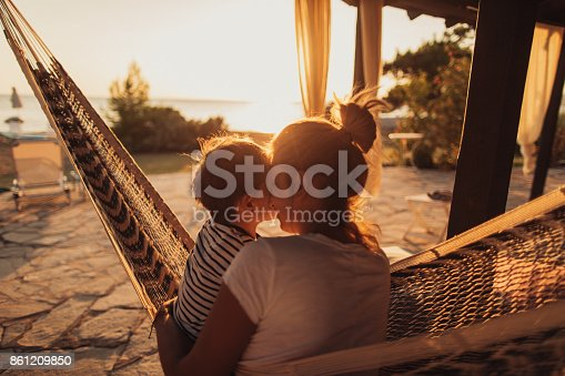 istock Relaxing moments in a hammock 861209850