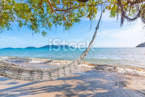 istock Relaxing on a beautiful beach in Thailand 1219585905