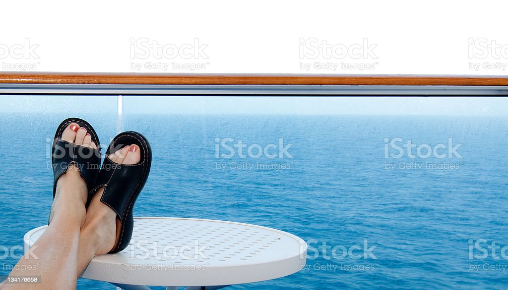 Relaxing on a cruise royalty-free stock photo