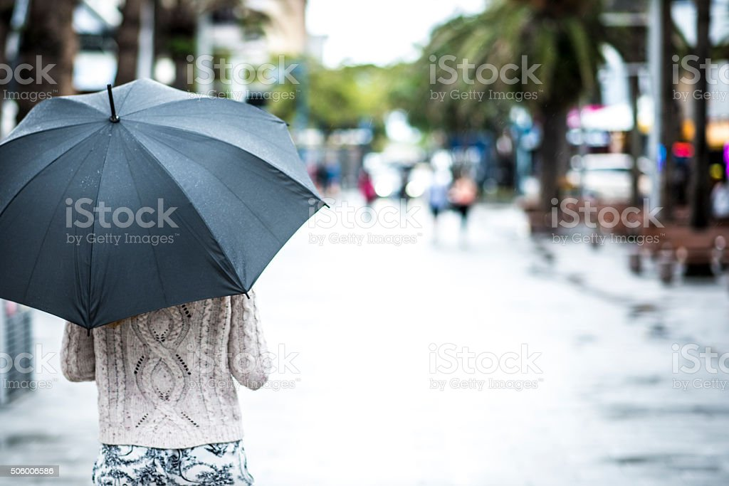 Relaxing on a rainy morning stock photo