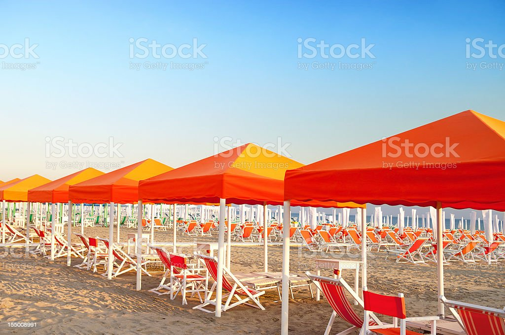 Relaxing on beautiful beach royalty-free stock photo