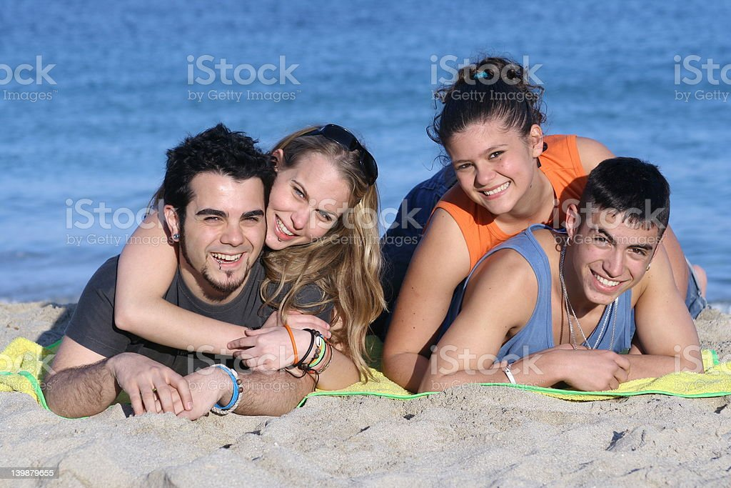 relaxing on the beach(Scroll down page for similar images) royalty-free stock photo