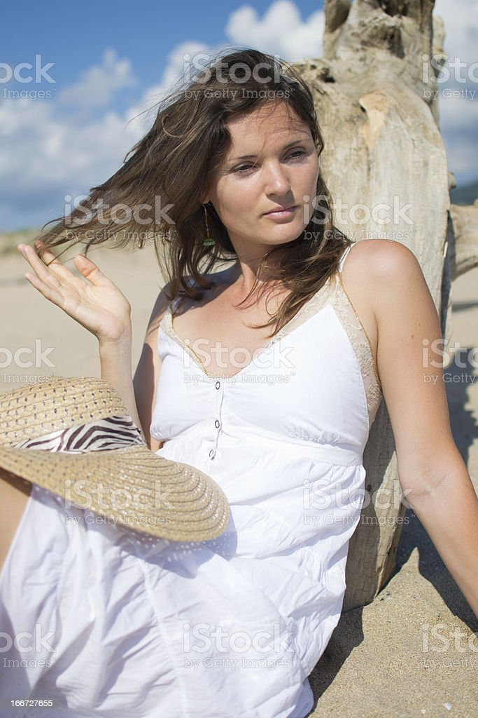 Relaxing on the beach royalty-free stock photo