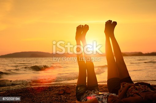 istock Relaxing on the beach 670203194