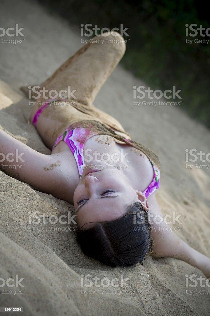 Relax sulla spiaggia foto stock royalty-free