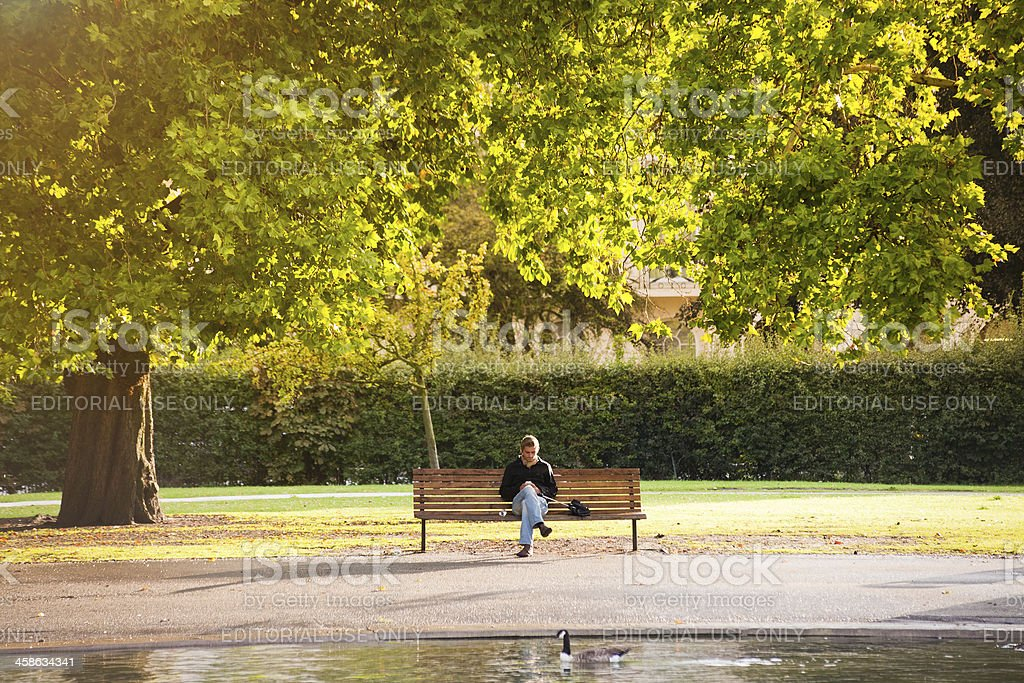Relaxing on the Park, London royalty-free stock photo