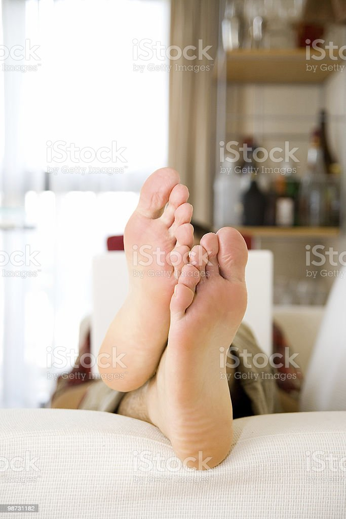 Relaxing on the sofa 免版稅 stock photo