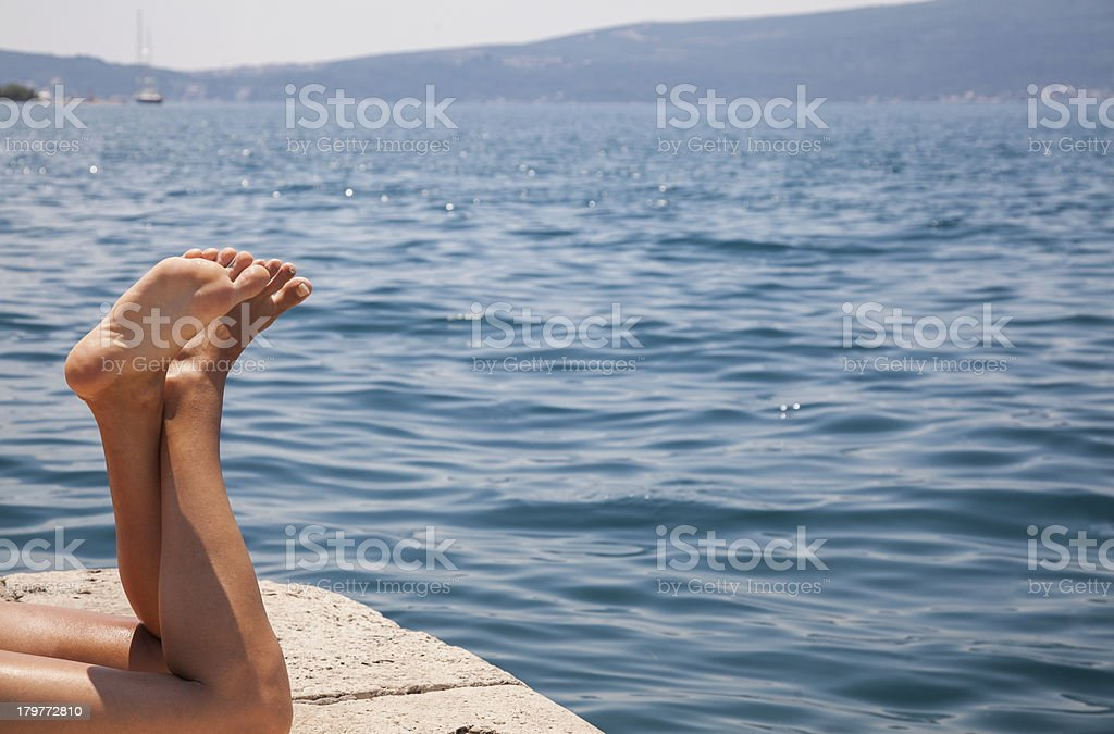 Relaxing on the vacation stock photo