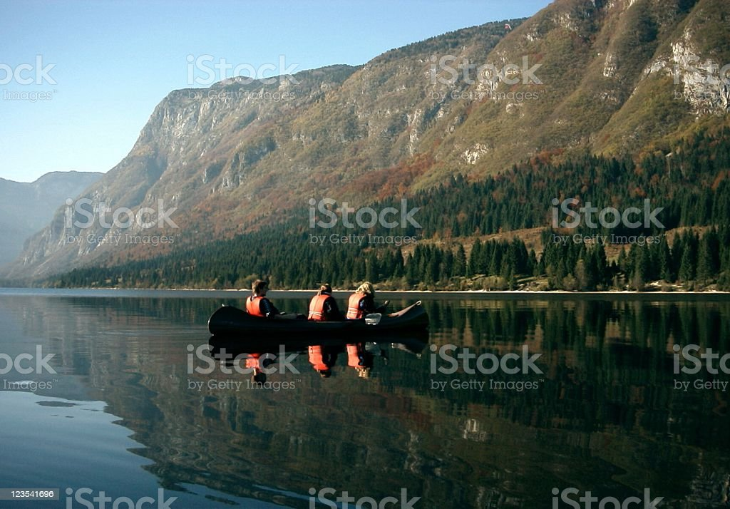 Relaxing on water royalty-free stock photo