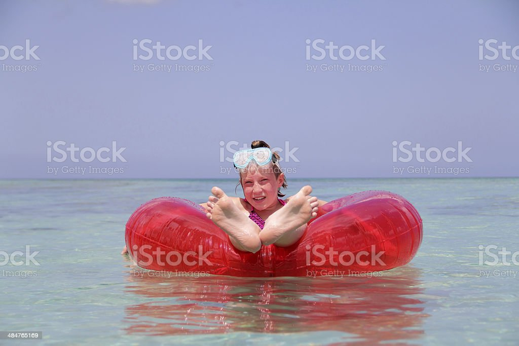 relaxing on water stock photo