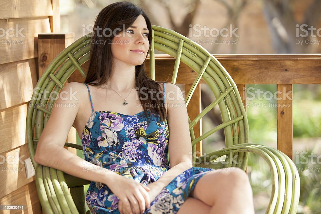Relaxing outdoors stock photo