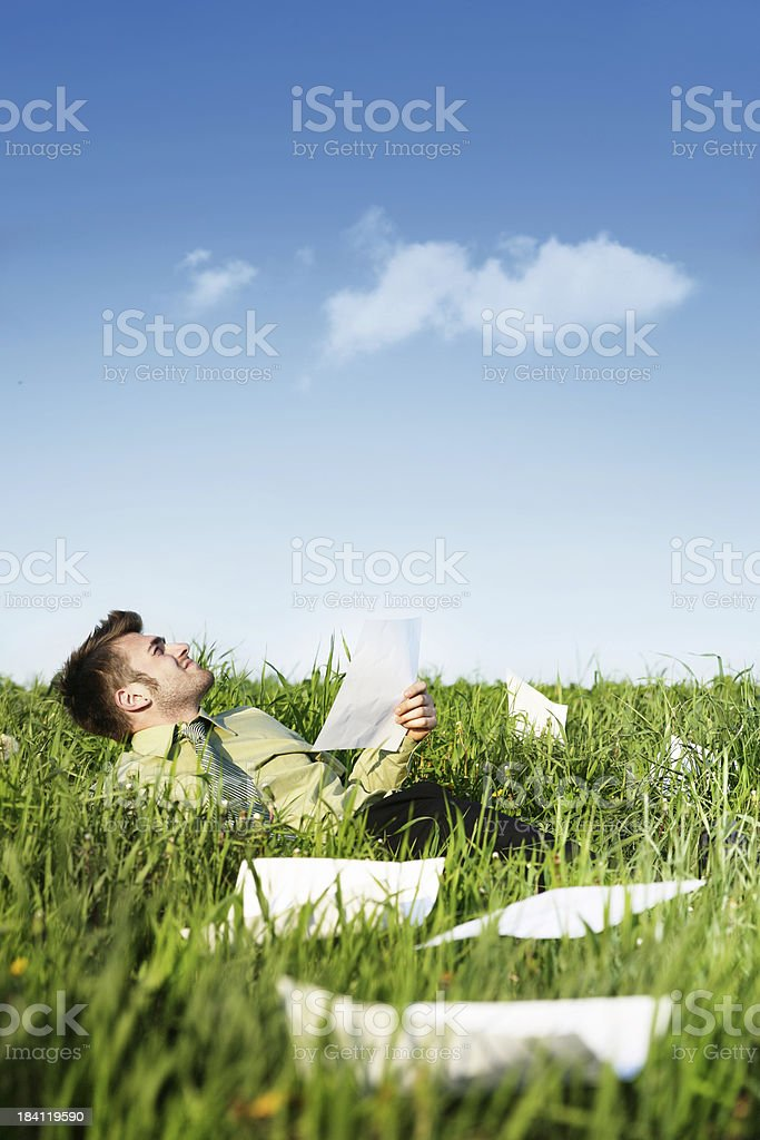 Relaxing outdoors royalty-free stock photo
