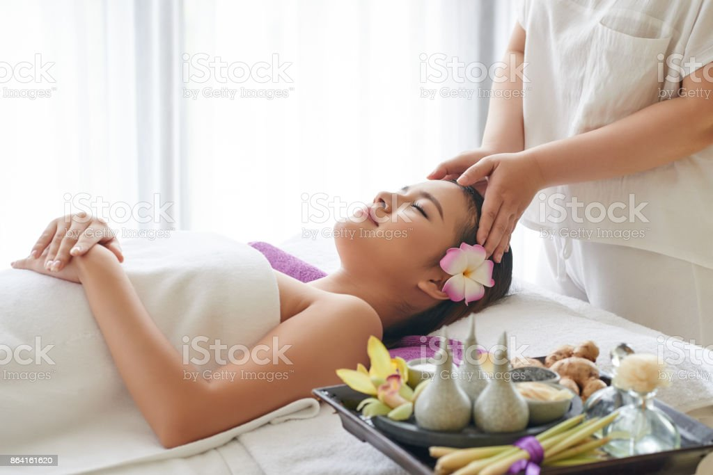 Relaxing procedure royalty-free stock photo