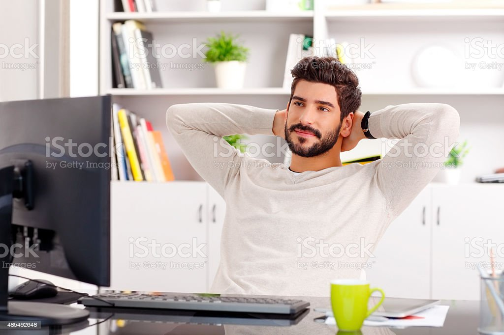 Relaxing professional stock photo