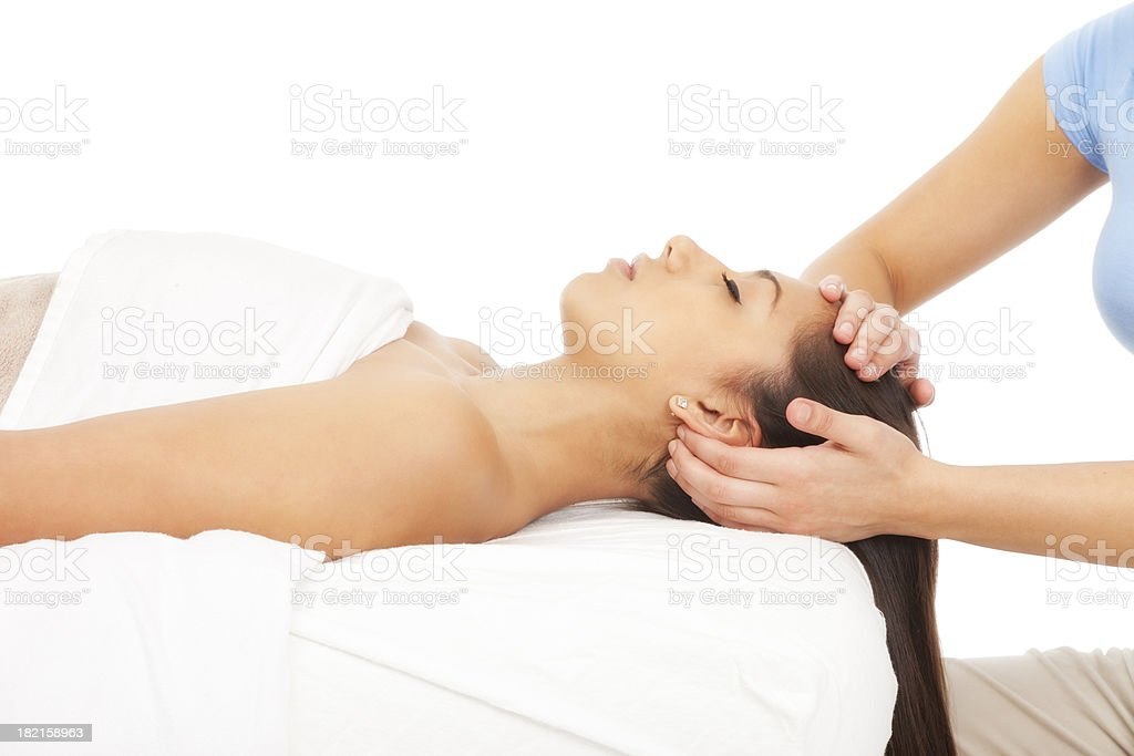 Relaxing Scalp Massage royalty-free stock photo