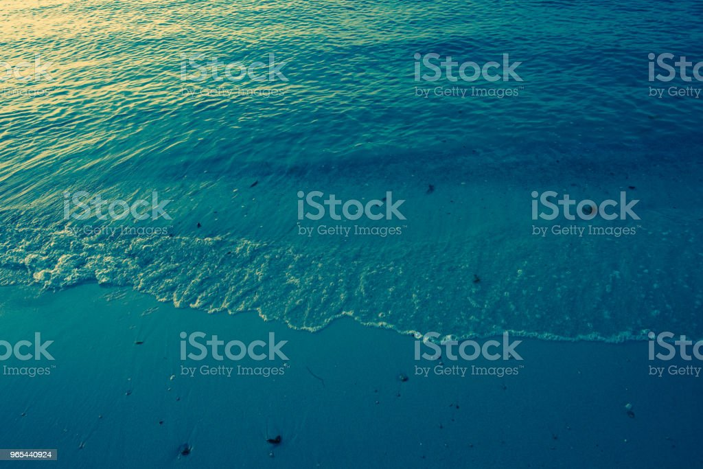 Relaxing seascape with wide horizon of the sky and the sea,with sun set and dark sea. vintage style royalty-free stock photo