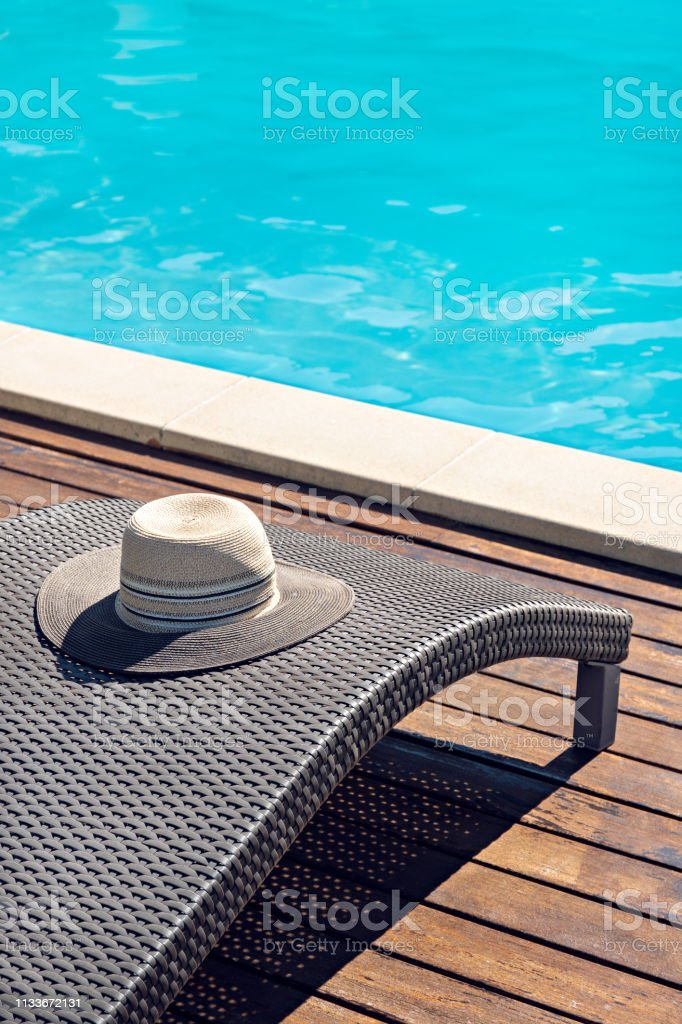 Relaxing summer concept stock photo