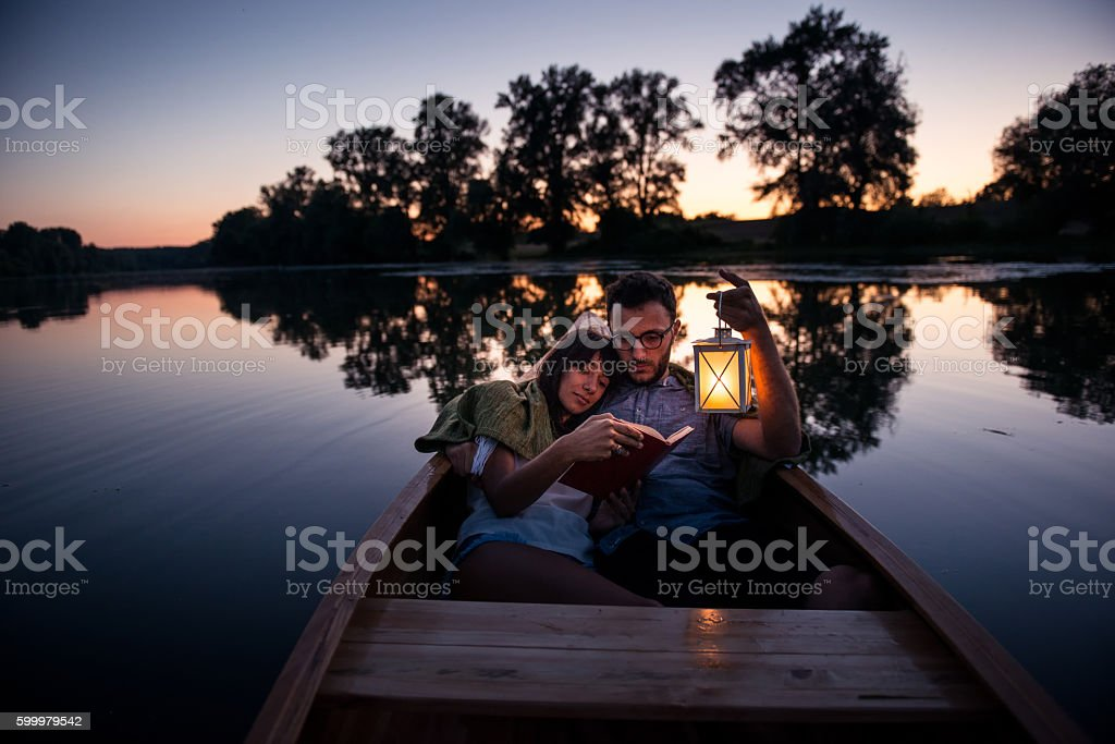 Relaxing time alone stock photo