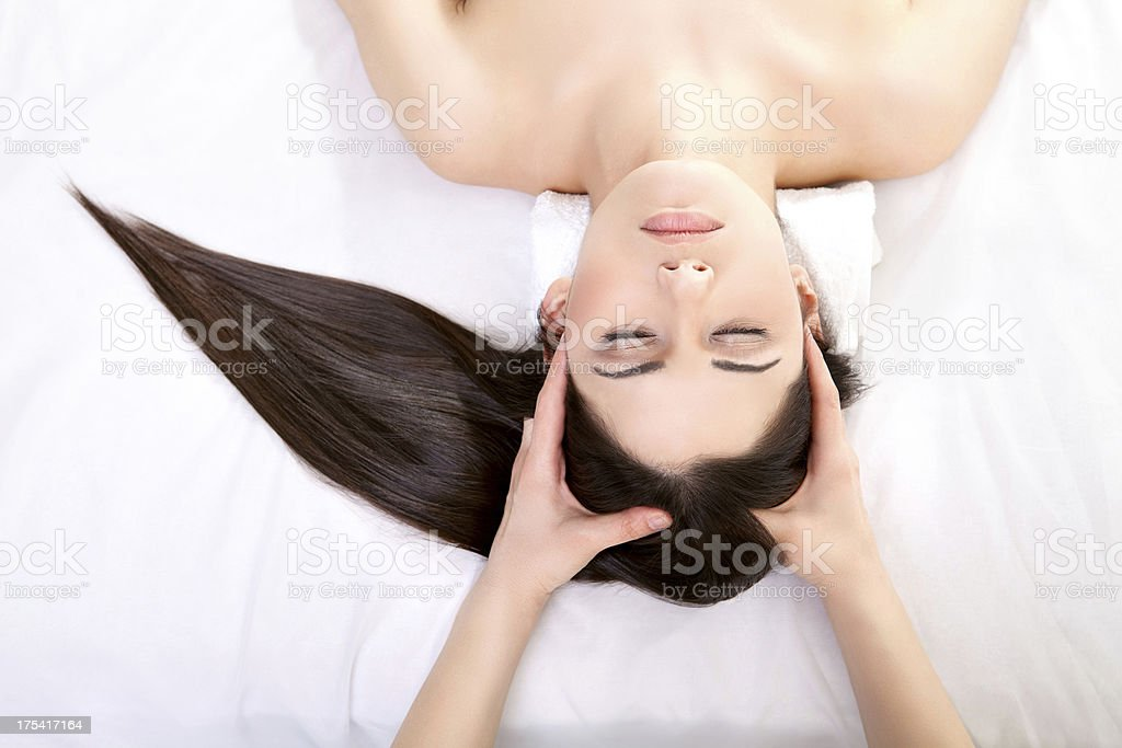 Relaxing treatment stock photo