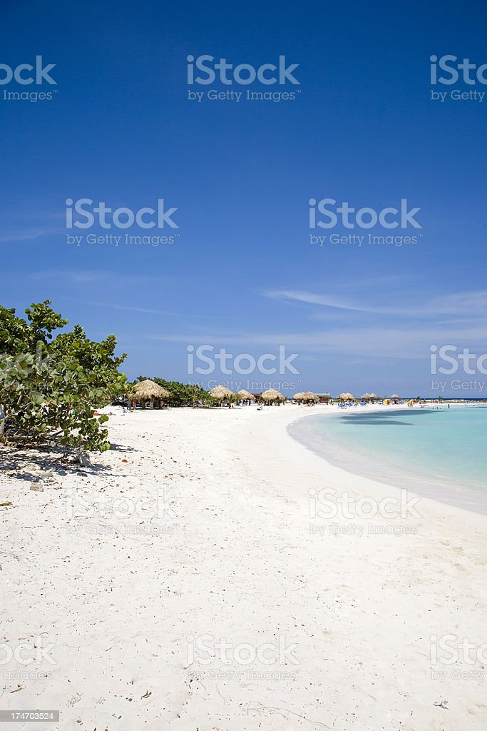 Relaxing tropical beach stock photo