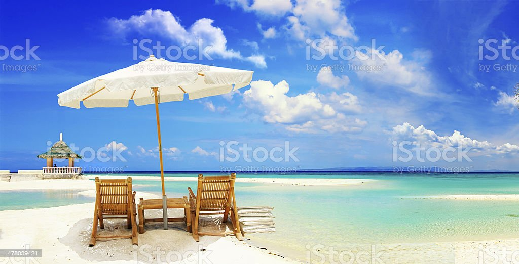 relaxing tropical holidays stock photo