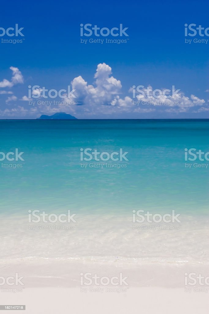 A relaxing view of a Caribbean Beach Scene royalty-free stock photo