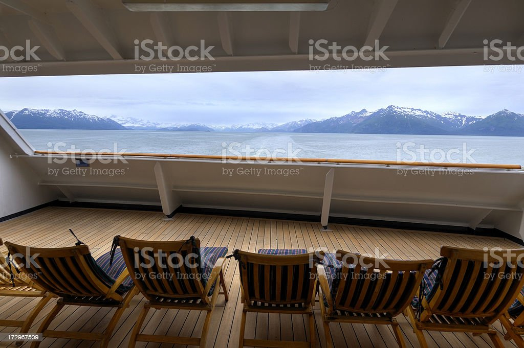 Relaxing view of Alaska royalty-free stock photo