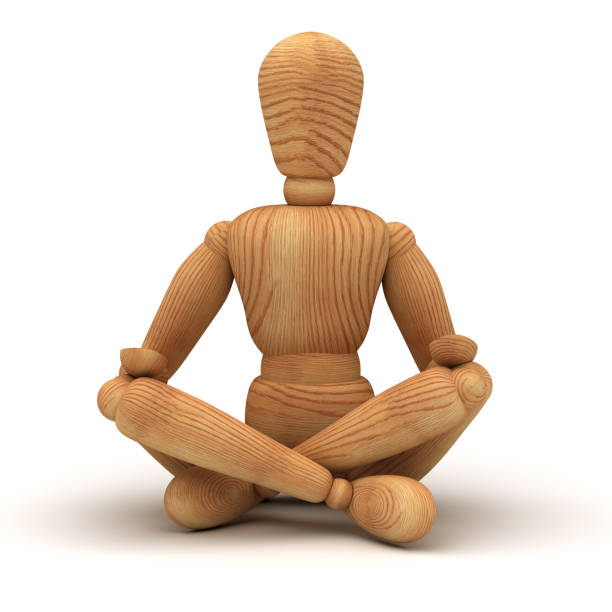 Relaxing with meditation stock photo