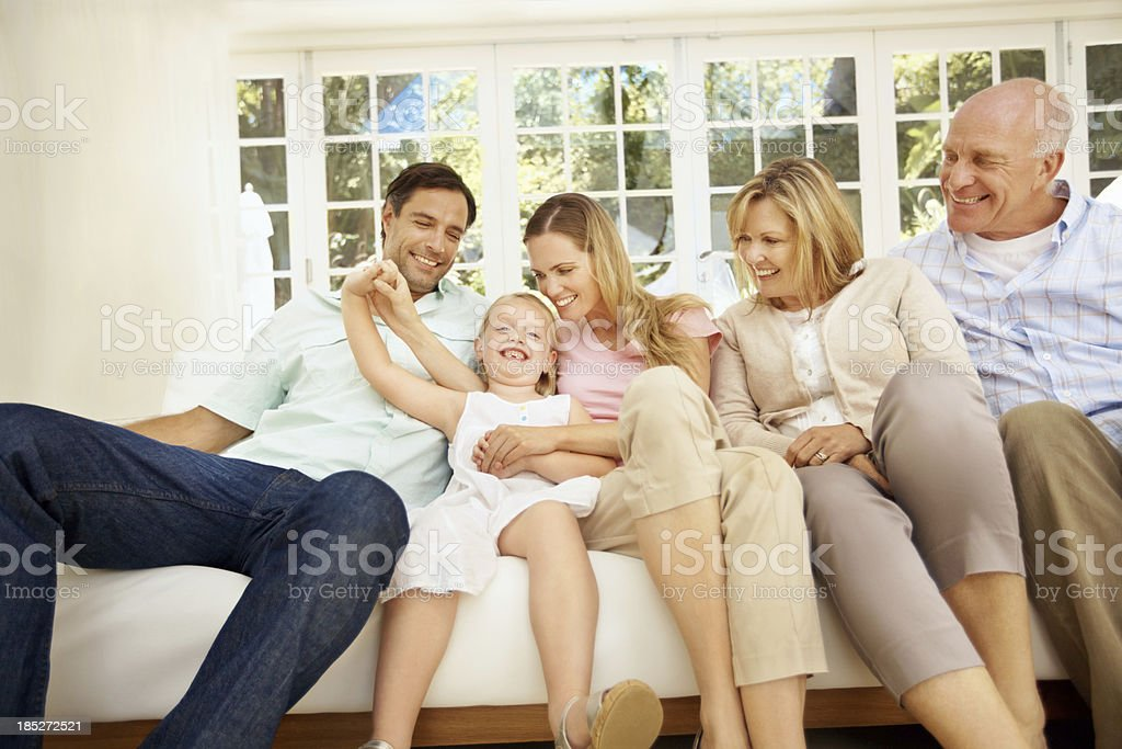 Relaxing with my closest family royalty-free stock photo