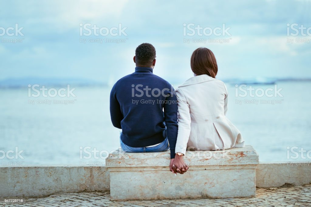 Relaxing with the perfect view stock photo