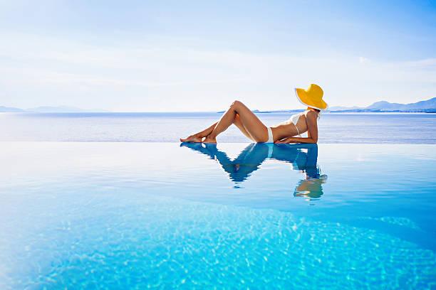 Relaxing women stock photo