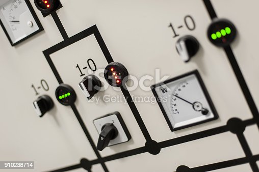 istock Relay protection system. Bay control unit. Medium voltage switchgear 910238714