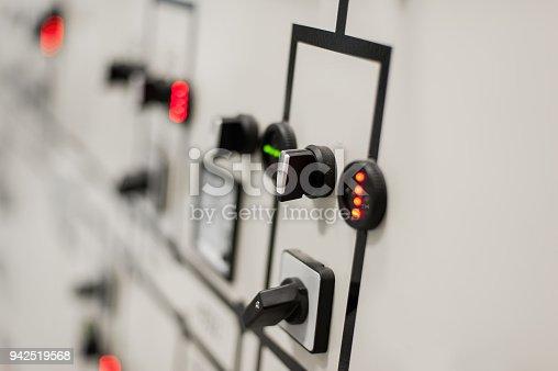 istock Relay protection system. Bay control unit. Medium voltage switchgear 942519568
