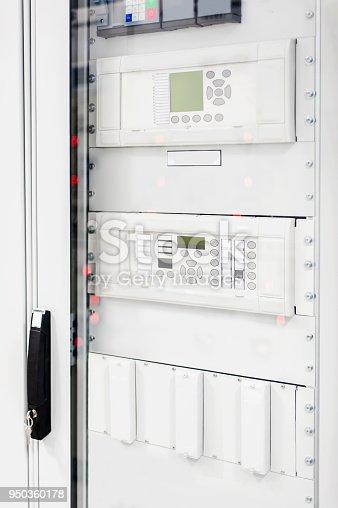 istock Relay protection system. Bay control unit. Medium voltage switchgear 950360178