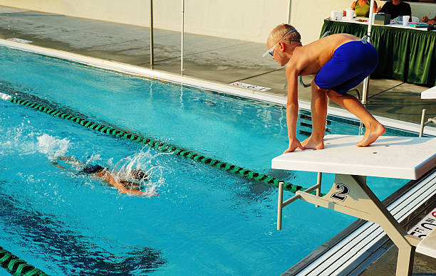 Staffel eine Swim Meet – Foto