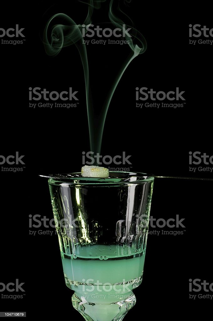 Releasing the Green Fairy royalty-free stock photo