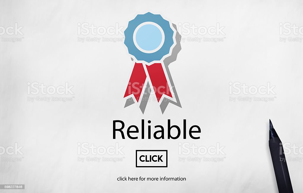 Reliable Commitment Consistency Dependable Concept foto royalty-free