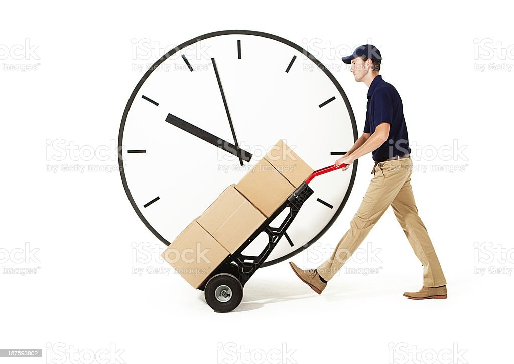 Reliable Package Delivery Service On-time Performance royalty-free stock photo