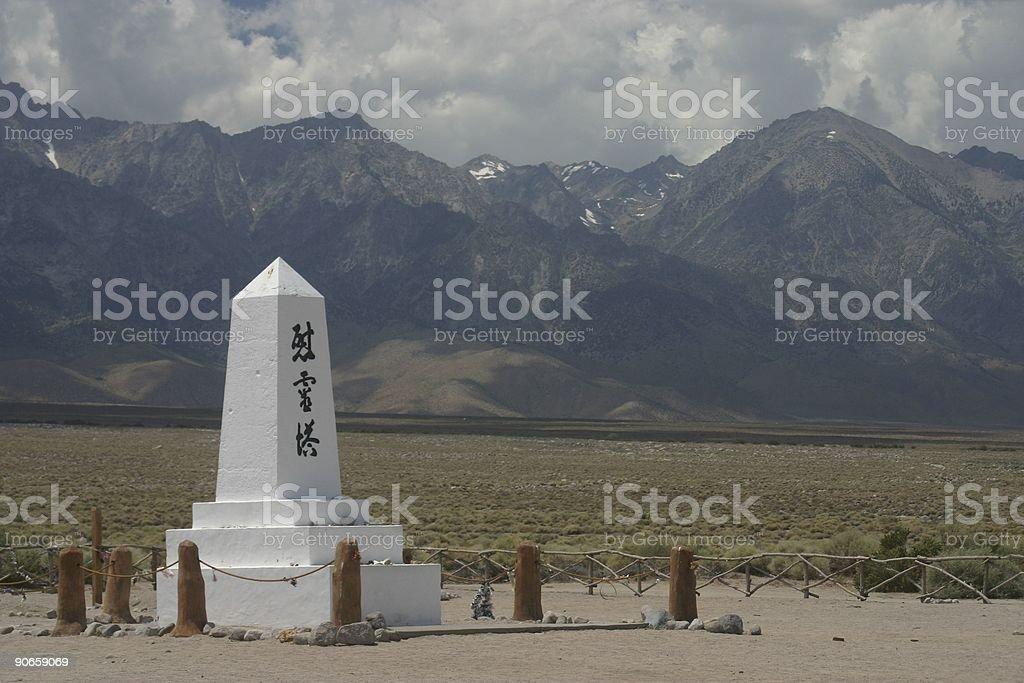 Relics of Manzanar royalty-free stock photo