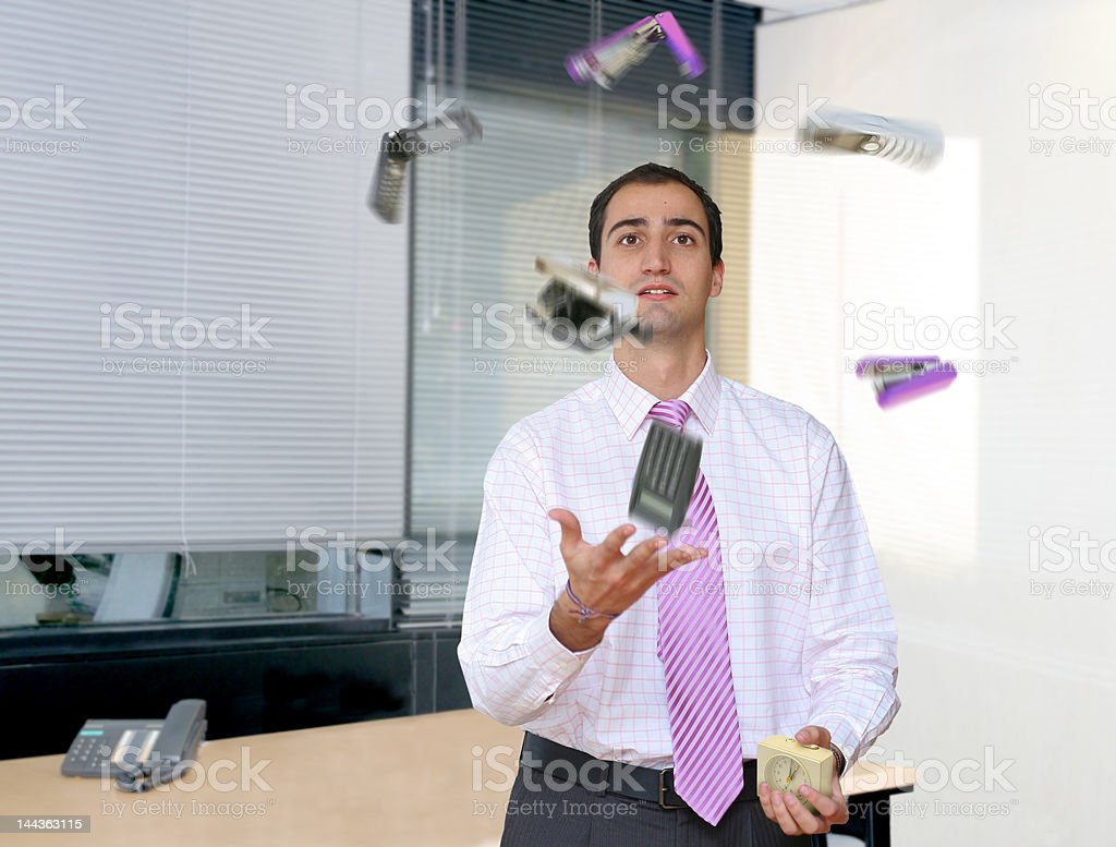 Relief from stressful office life royalty-free stock photo