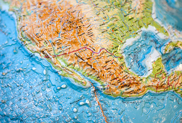 Royalty Free Physical Map Of Mexico Pictures Images And Stock - Physical map of mexico