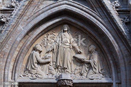 Relief of church Ste Boniface in Brussels Ixelles