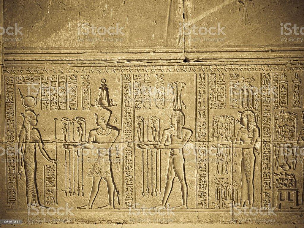 Sollievo di Hator nel tempio Deadera foto stock royalty-free