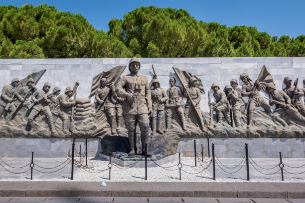 Cтоковое фото Relief works in Canakkale martyr memorial military cemetery