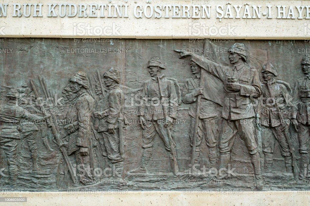 Bas-reliefs du Monument des Martyrs de Canakkale, à la bataille de Gallipoli - Photo