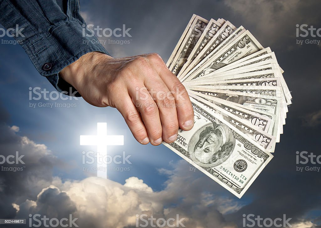 Religion as a business stock photo