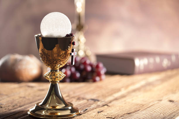 religion. christianity theme. - communion stock photos and pictures