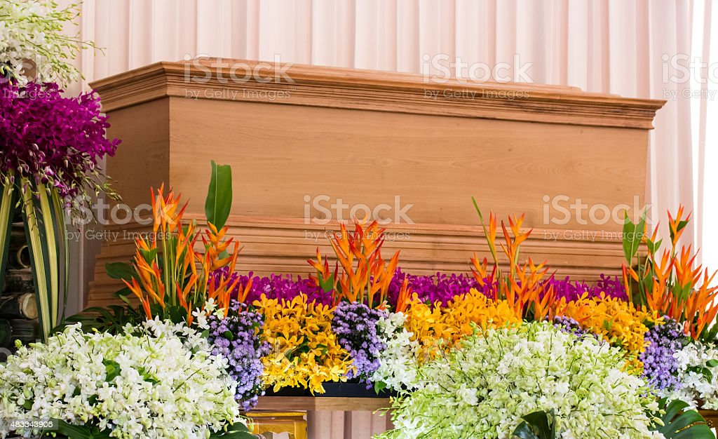 Religion, death and dolor - funeral and cemetery; stock photo