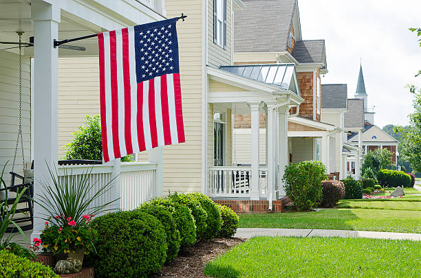 Religion in Small Town America stock photo
