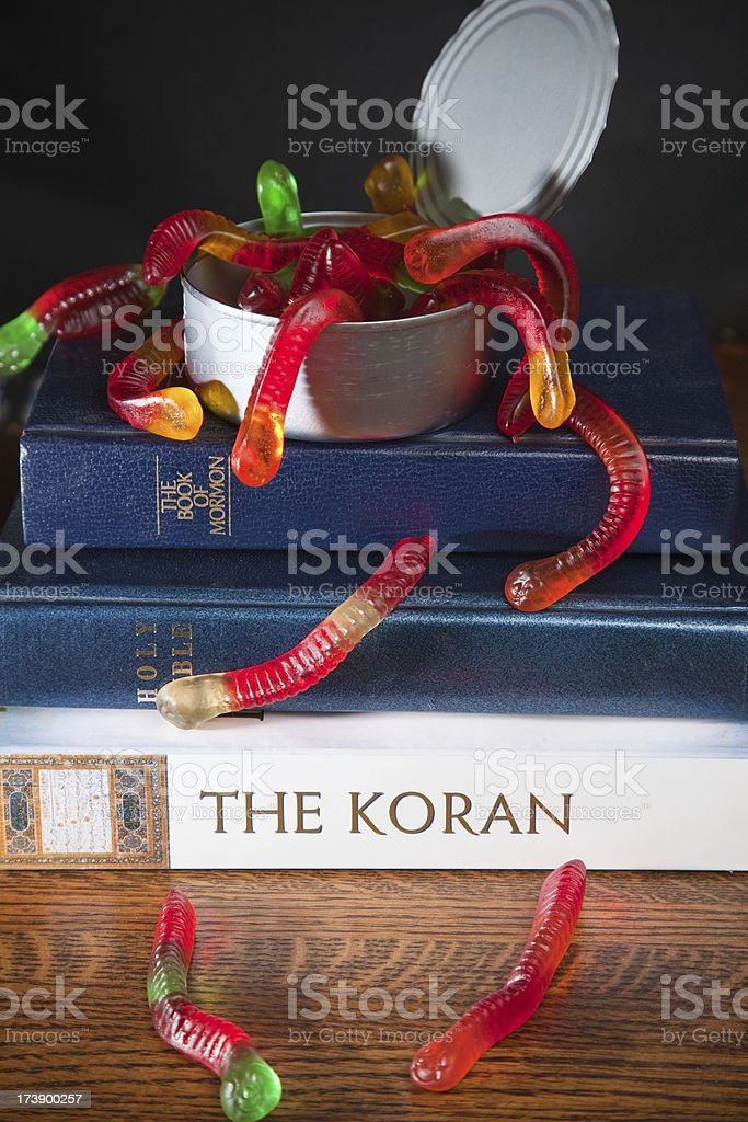 Religion Opens A Can Of Worms stock photo